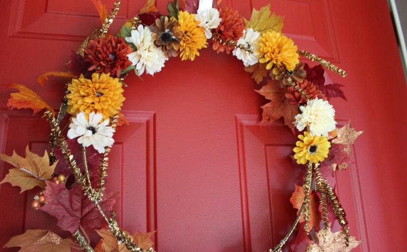 DIY Fall FloralWreath